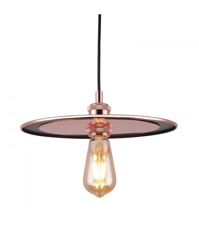 Lampe Disc Rose Gold Mobelium - Lampe Gold