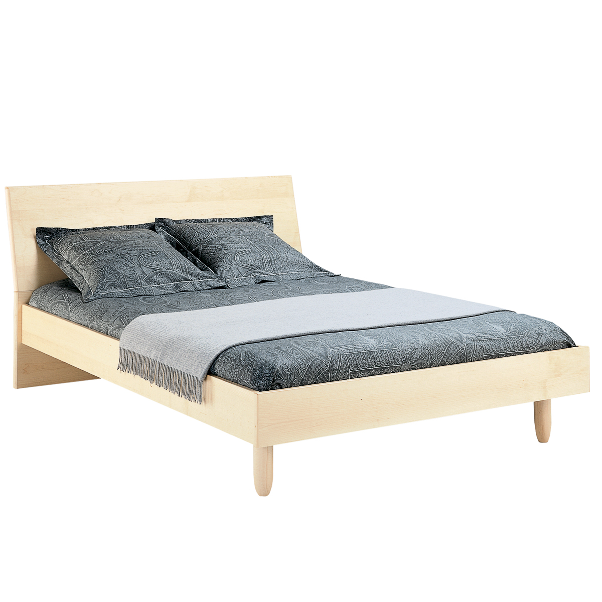 Meubles Mobican Furniture Contempora Bed With Wood Headboard Mobican
