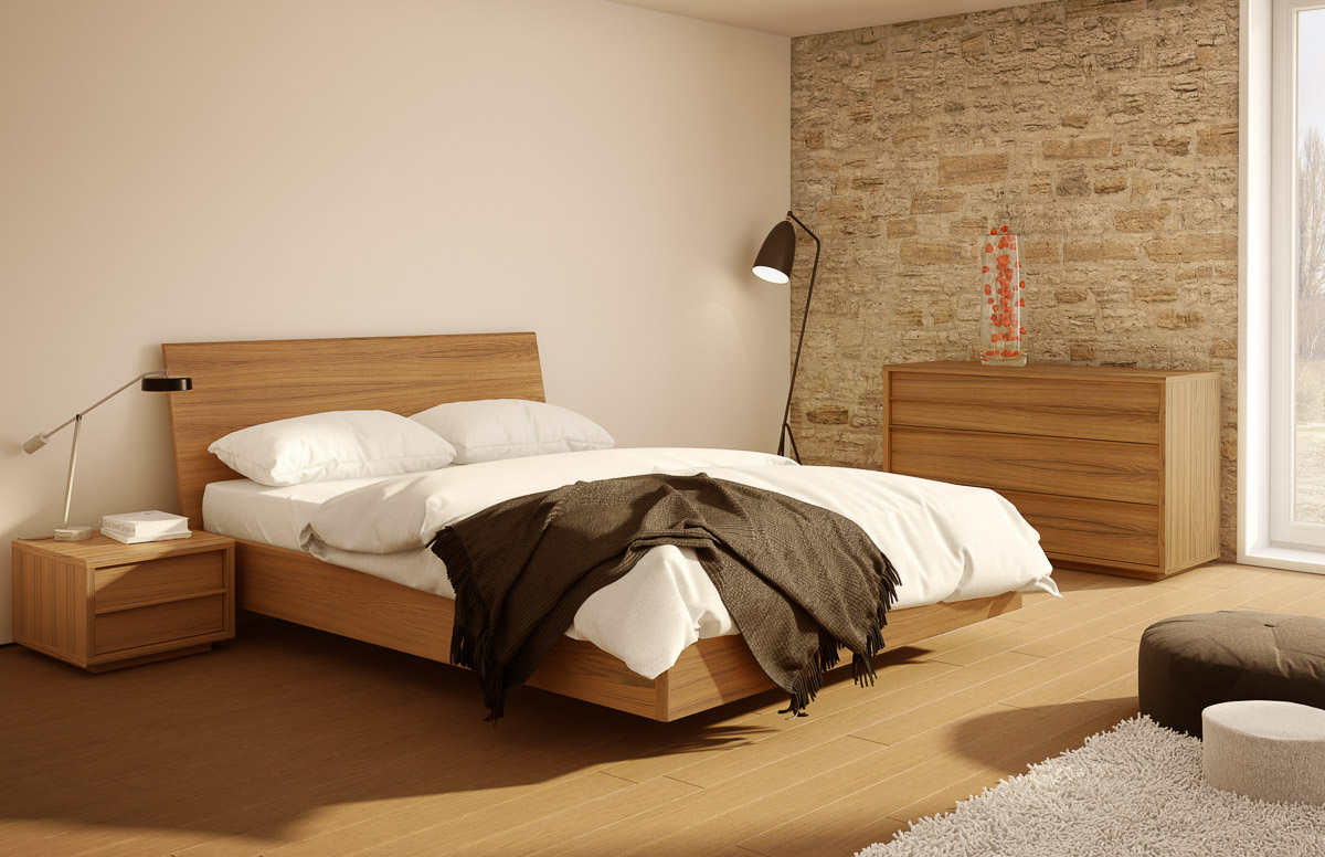 Meubles Mobican Furniture Urbana Bed With Wood Headboard Mobican