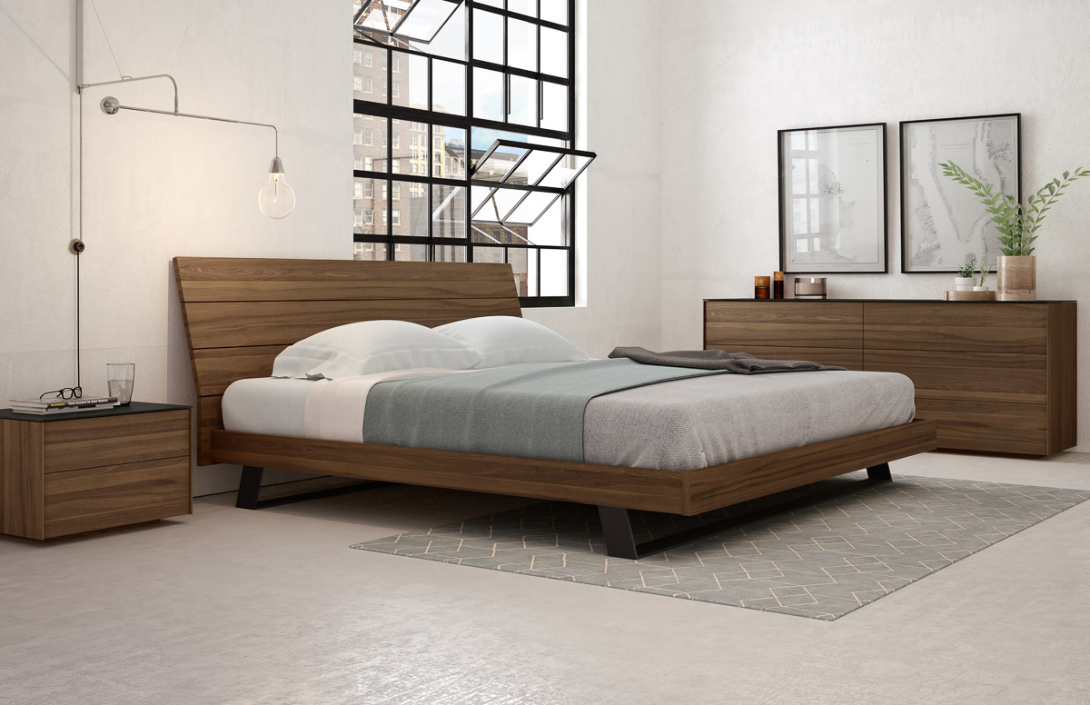 Meubles Mobican Furniture Bella Bed With Wood Headboard Mobican