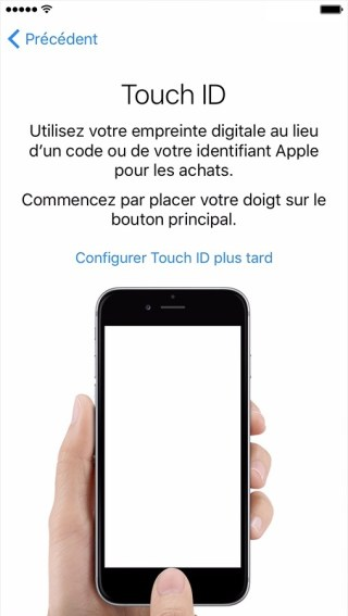 activation iphone etape 6 touch id