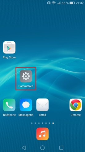 Applications Huawei android 6.0 parametre 2