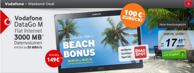 2015-07-08 13_07_59-Top-Deal! Vodafone DataGo M + Samsung Galaxy Tab S 10.5 und 100 € Cashback (eff.