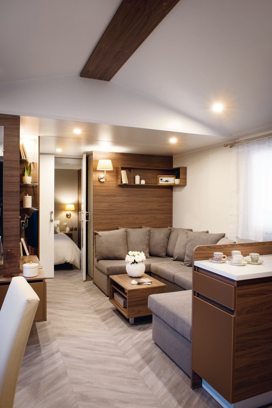 Canape 140 Cm De Large Mobil-home Evasion - Irm Long Island - 2 Chambres