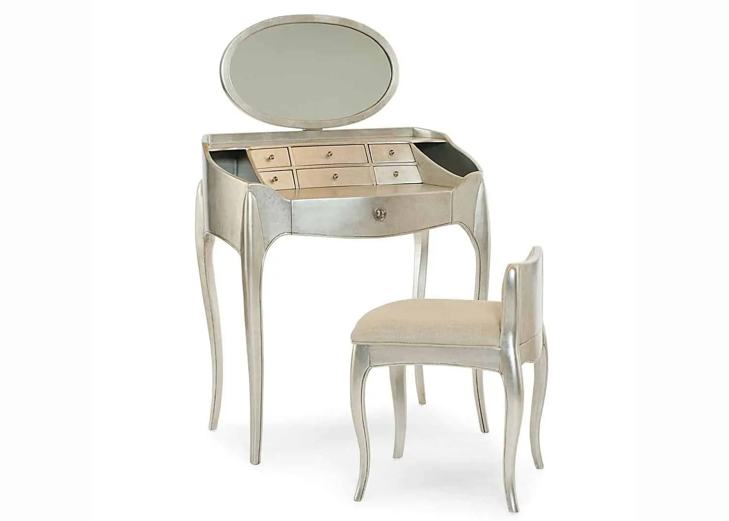 Vanity Set Chair Coquette Vanity Set Mobilart Decor High End Furniture