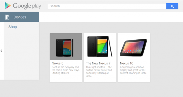Google Play Store Nexus 5 Leak