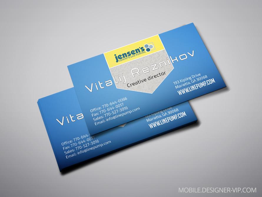 Visiting card design JCLP