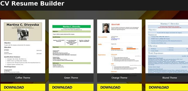 Free Resume Builder App 5 Minute CV Templates Android App