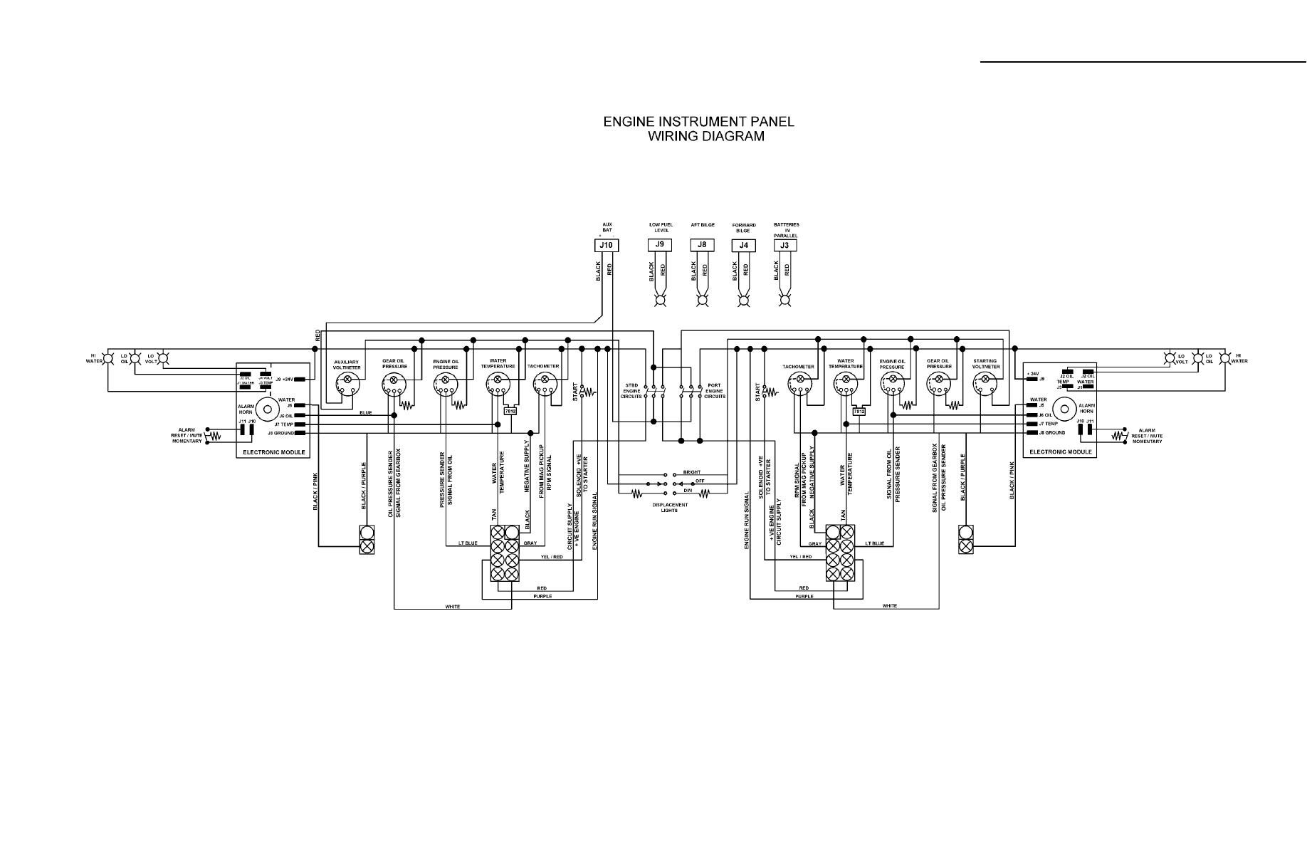 mercruiser wiring diagram instrument panel