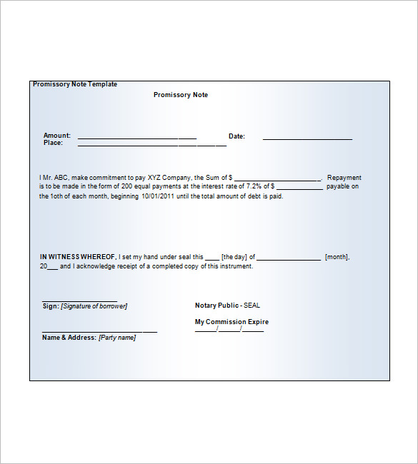 Blank Promissory Note mobile discoveries