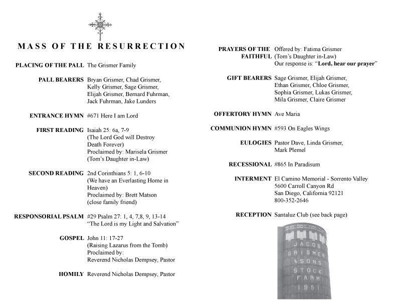 Funeral Mass Program Template mobile discoveries