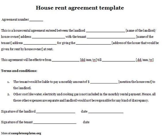 House Rent Agreement Sample mobile discoveries