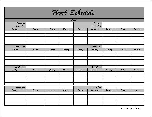 Monthly Staff Schedule Template mobile discoveries