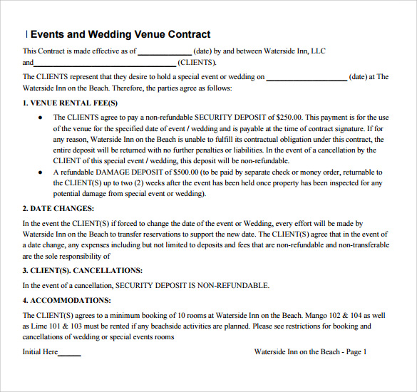 Wedding Vendor Contract Template mobile discoveries