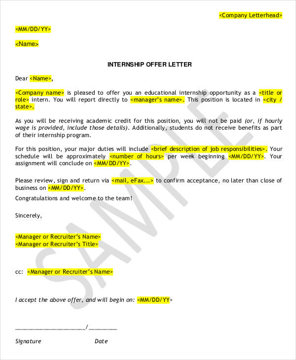Internship Letter Format mobile discoveries