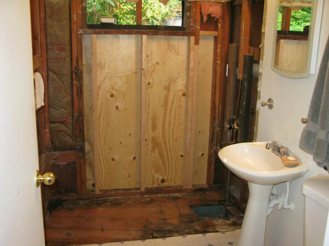 bathroom remodel from start to finish mobile and manufactured home living. Black Bedroom Furniture Sets. Home Design Ideas