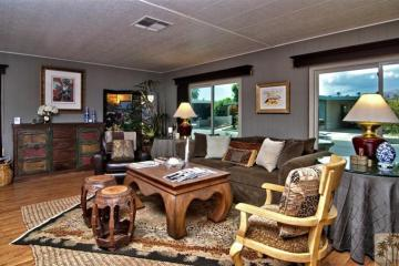 beautiful manufactured home tour - living room