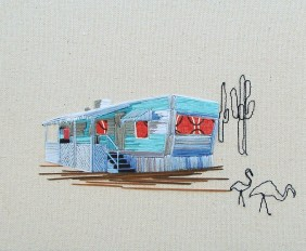 mobile home embroidered art