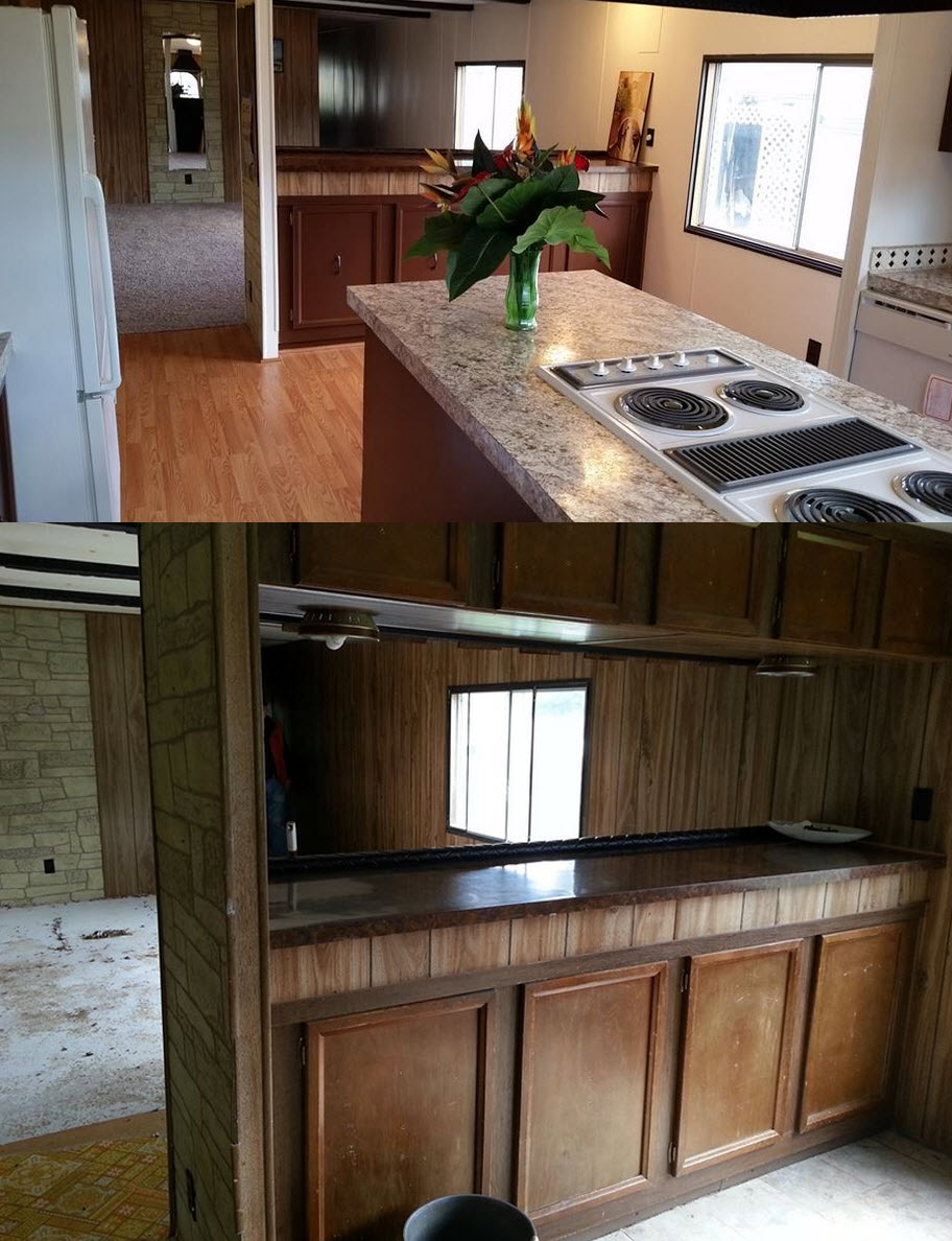kitchen remodel ideas for mobile homes mobile home kitchen remodel 6 Great Mobile Home Kitchen Makeovers