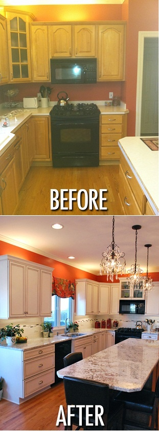 kitchen paint really makes a difference in a kitchen