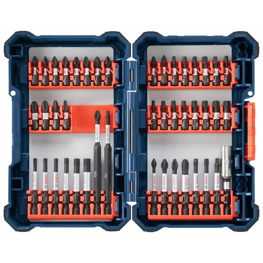 Bitset Bosch Bosch Custom Case 44 Piece 1 4 In Impact Driver Bit Set At Lowes