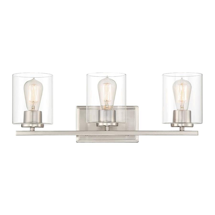 Designers Fountain Lighting Designers Fountain Liam 3 Light 23 In Satin Platinum Cylinder