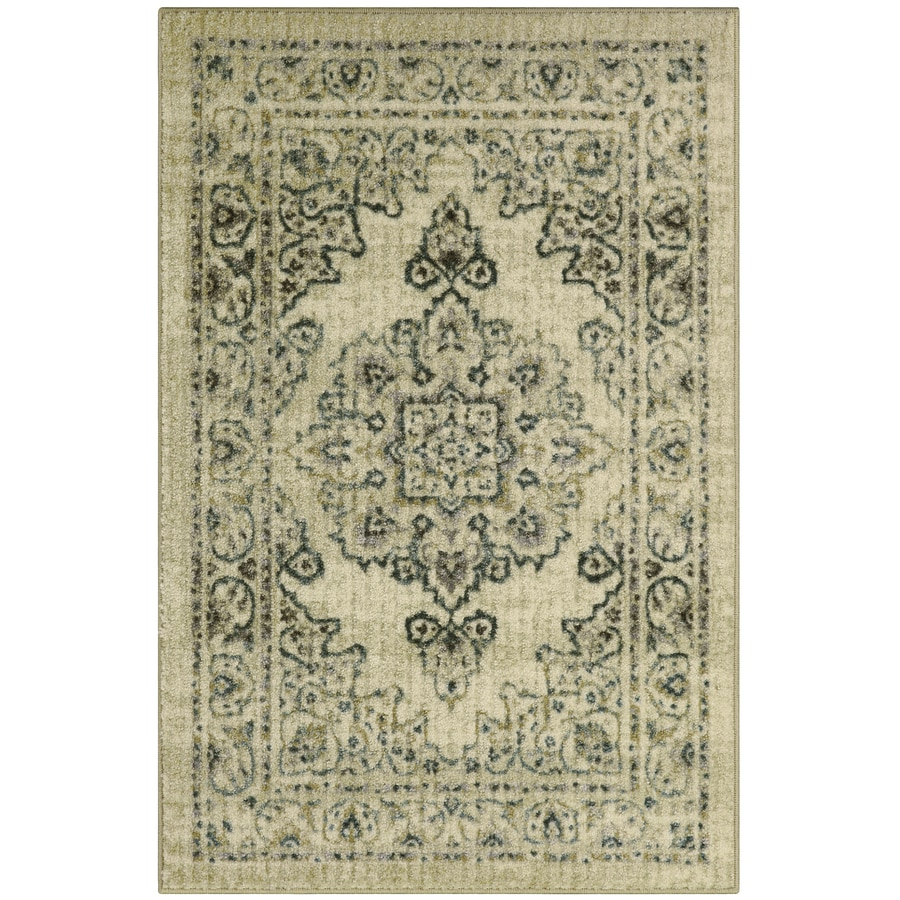 Maples Rugs Blue Green Indoor Throw Rug Common 3 X 4