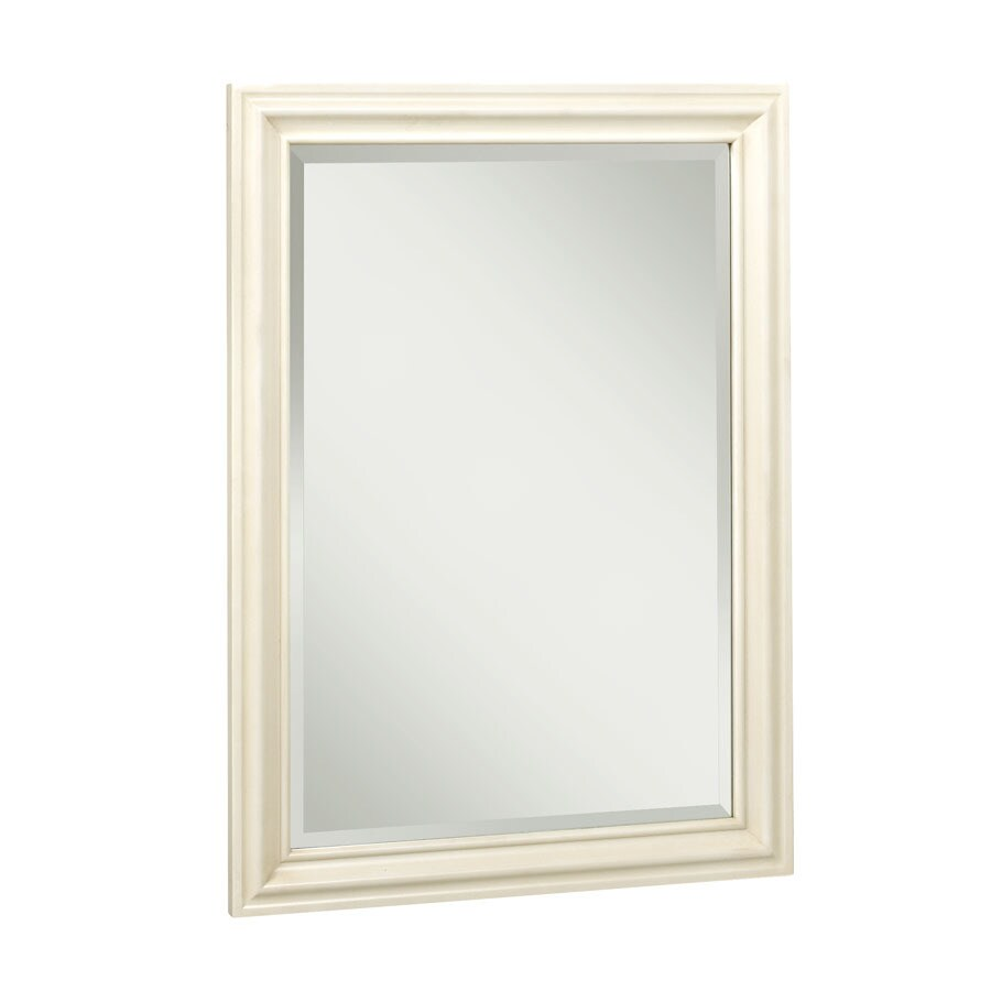 Allen roth ketterton 24 in w x 33 in h cream rectangular bathroom