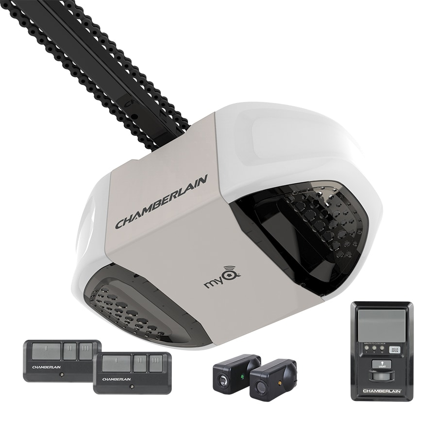 Garage Door Opener Lowes Chamberlain 75 Hp Chain Drive Garage Door Opener At Lowes
