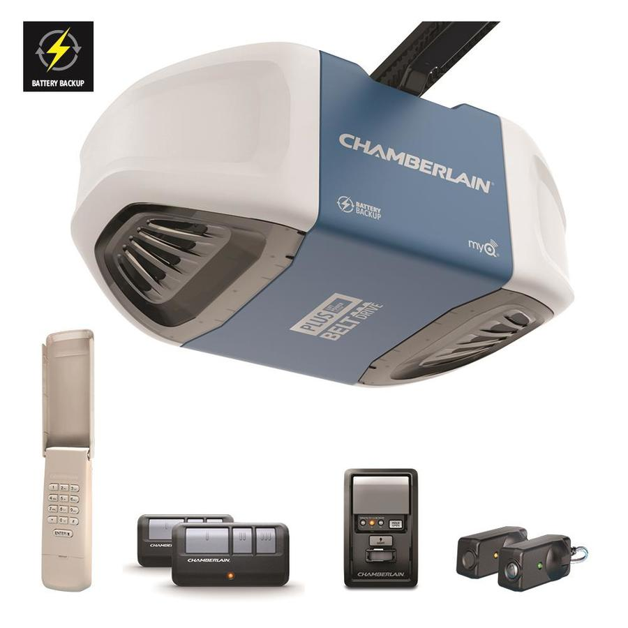 Garage Door Opener Lowes Chamberlain 75 Hp Ultra Quiet And Strong Belt Drive Myq