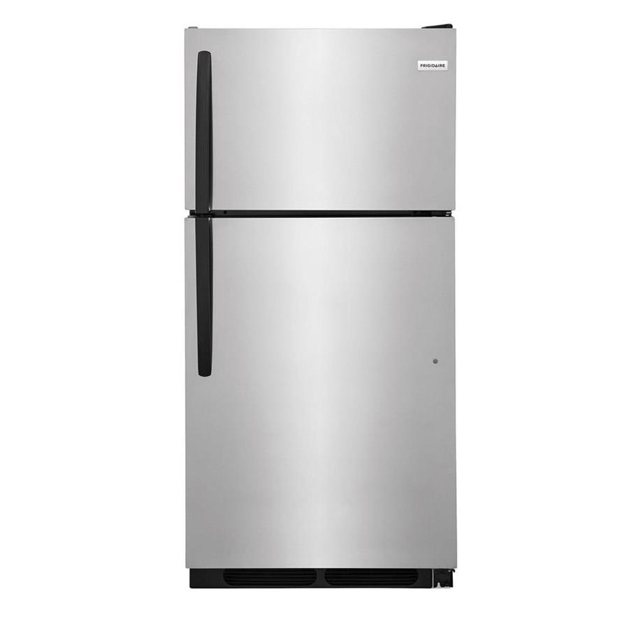 14 Cu Ft Refrigerator Frigidaire 14 5 Cu Ft Top Freezer Refrigerator Stainless Steel