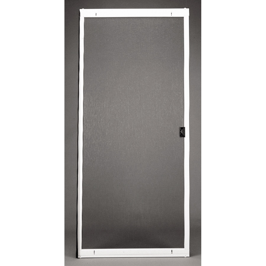 Shop RITESCREEN White Steel Sliding Screen Door (Common