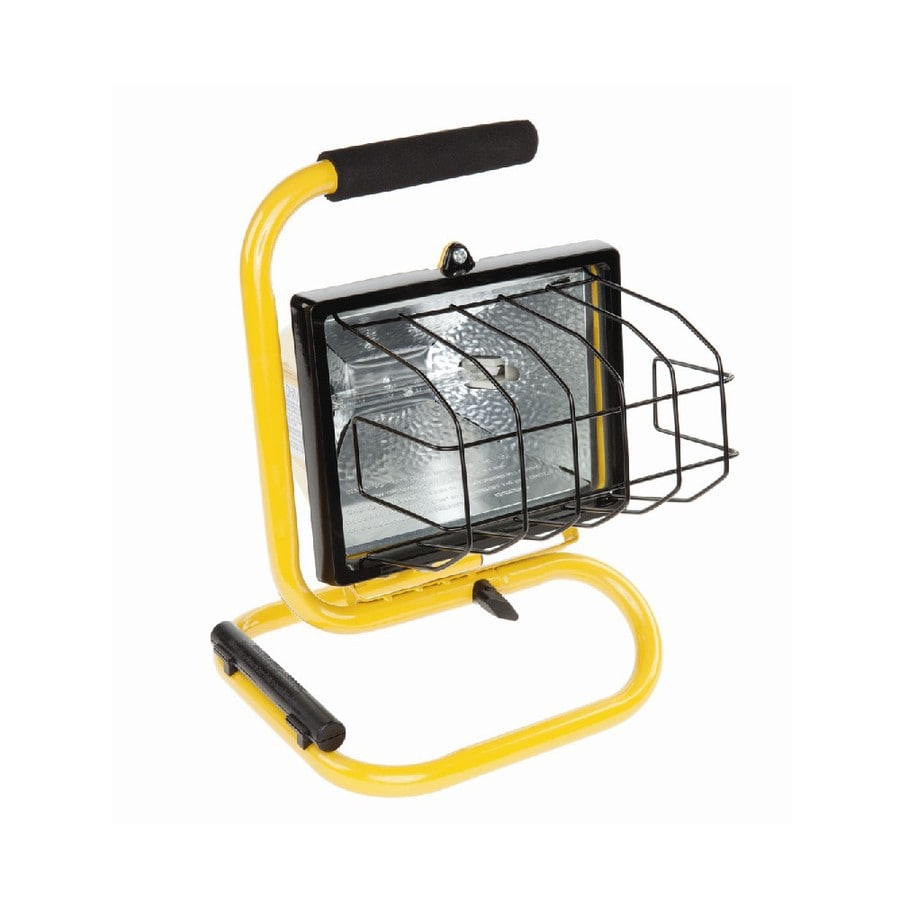 500 Watt Utilitech 500 Watt Halogen Portable Work Light At Lowes