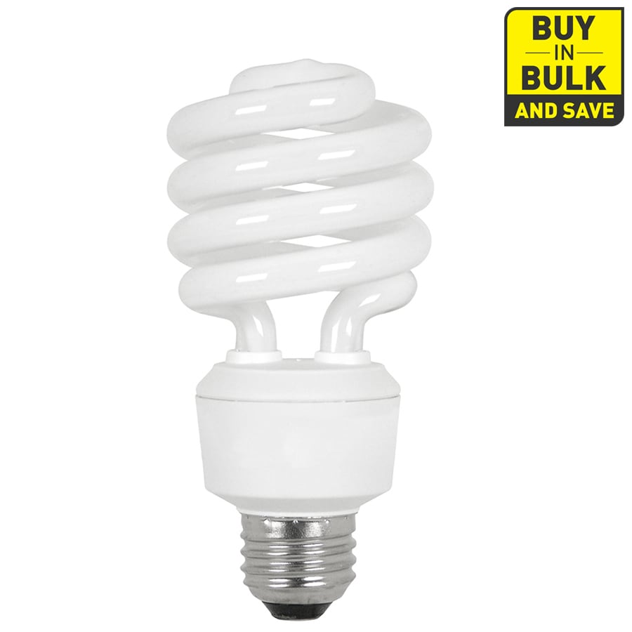 Does Lowes Recycle Light Bulbs Utilitech 6 Pack 100w Equivalent Soft White Cfl Light Fixture