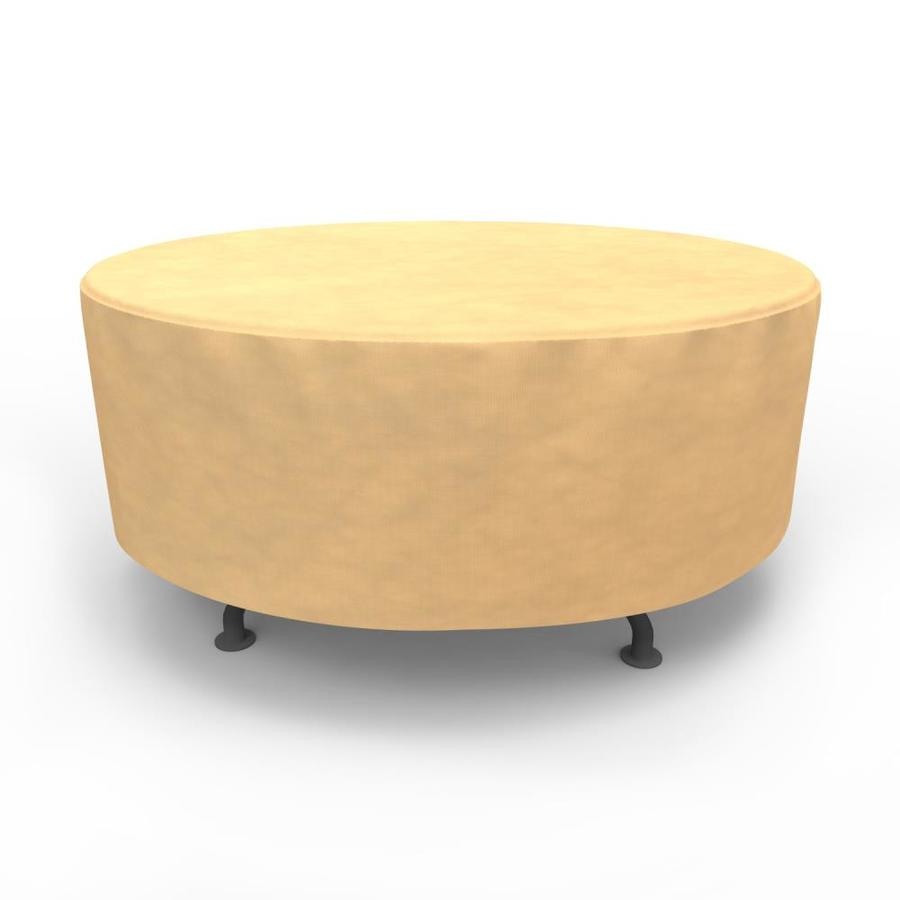 Table Polypropylène Budge All Seasons Tan Polypropylene Dining Table Round Cover At