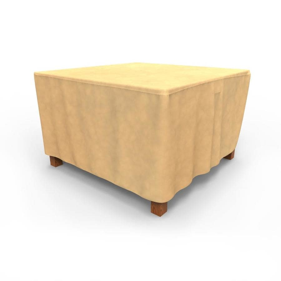 Table Polypropylène Budge All Seasons Tan Polypropylene Dining Table Square Cover At