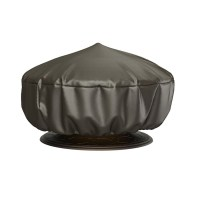 Shop Rust-Oleum 38-in Charcoal Round Firepit Cover at ...