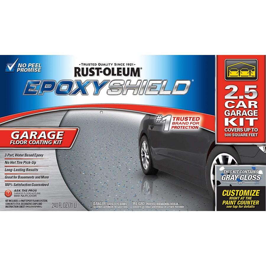 Epoxy Garage Floor Expansion Joints Rust Oleum Epoxyshield 2 Part Gray Gloss Garage Floor Epoxy Kit