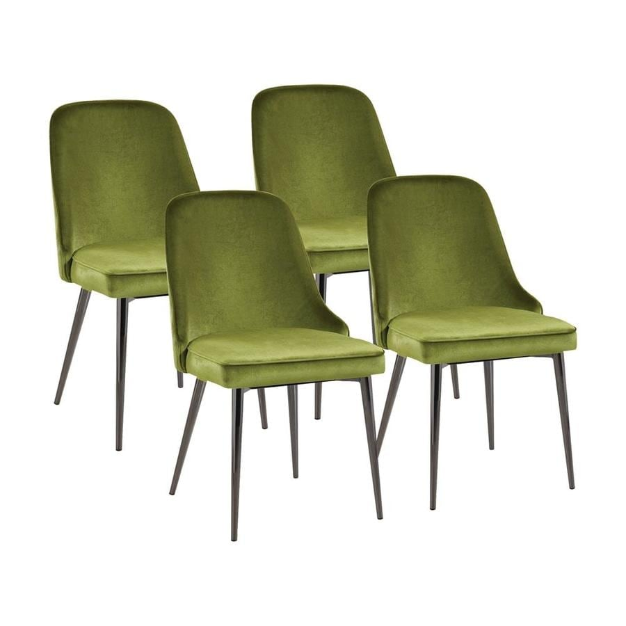 Contemporary Living Set Scott Living Set Of 4 Contemporary Retro Green Side Chairs At