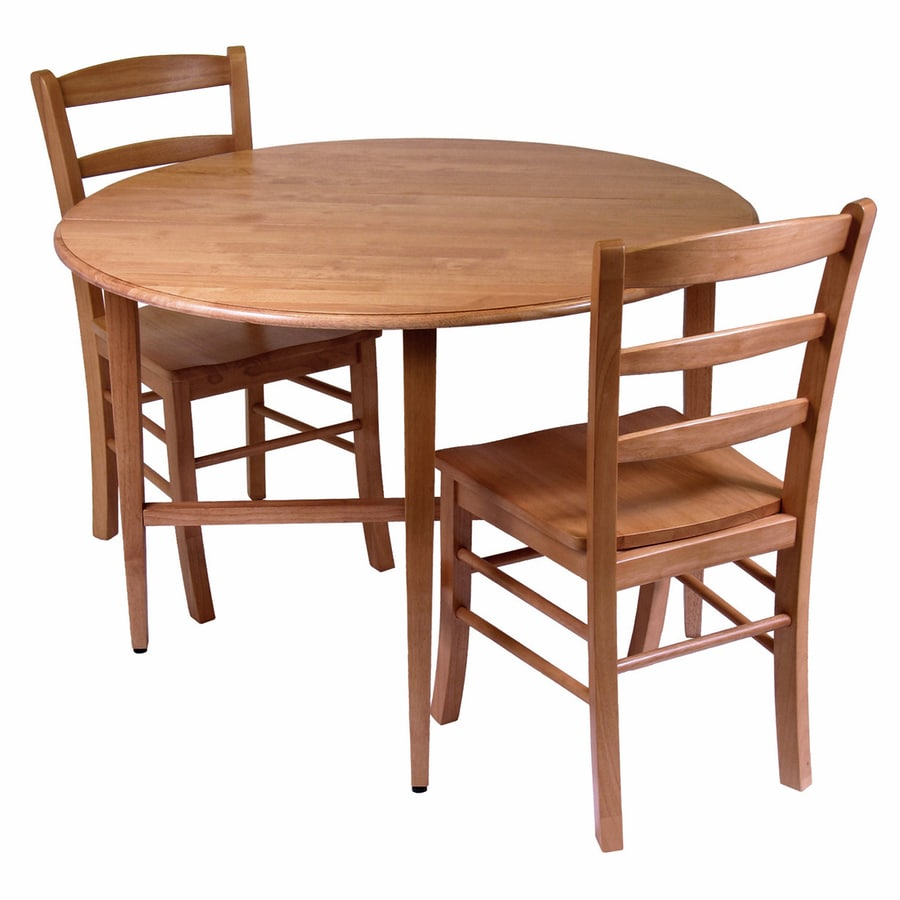 Round Oak Dining Table Winsome Wood Hannah Light Oak Dining Set With Round Dining Table