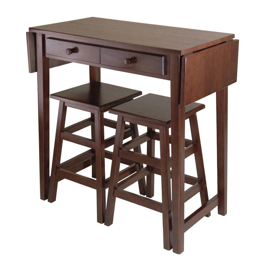 Stools Kitchen Islands Winsome Wood Brown Rustic Kitchen Island With With With 2 Stools