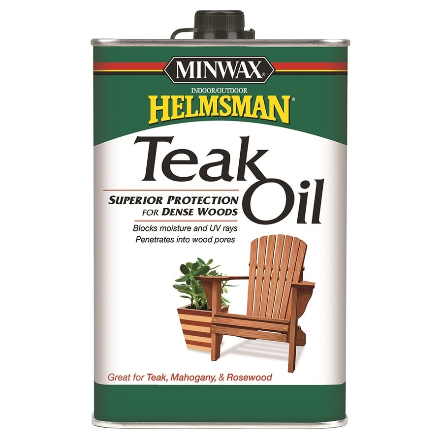 Minwax Teak Oil Clear Teak Oil In The Wood Oils Department At Lowes Com