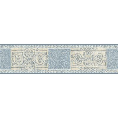 Shop allen + roth 5.13-in Blue Prepasted Wallpaper Border at Lowes.com