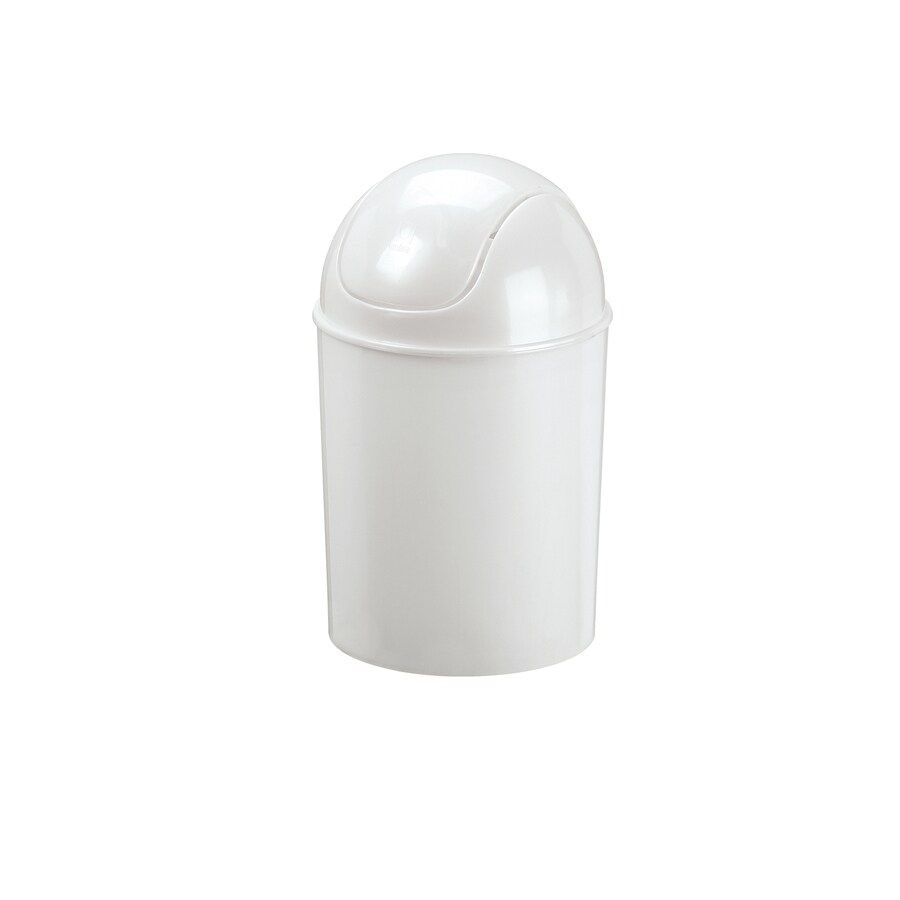 Mini Plastic Trash Can With Lid Umbra Mini 1 5 Gallon White Plastic Trash Can At Lowes