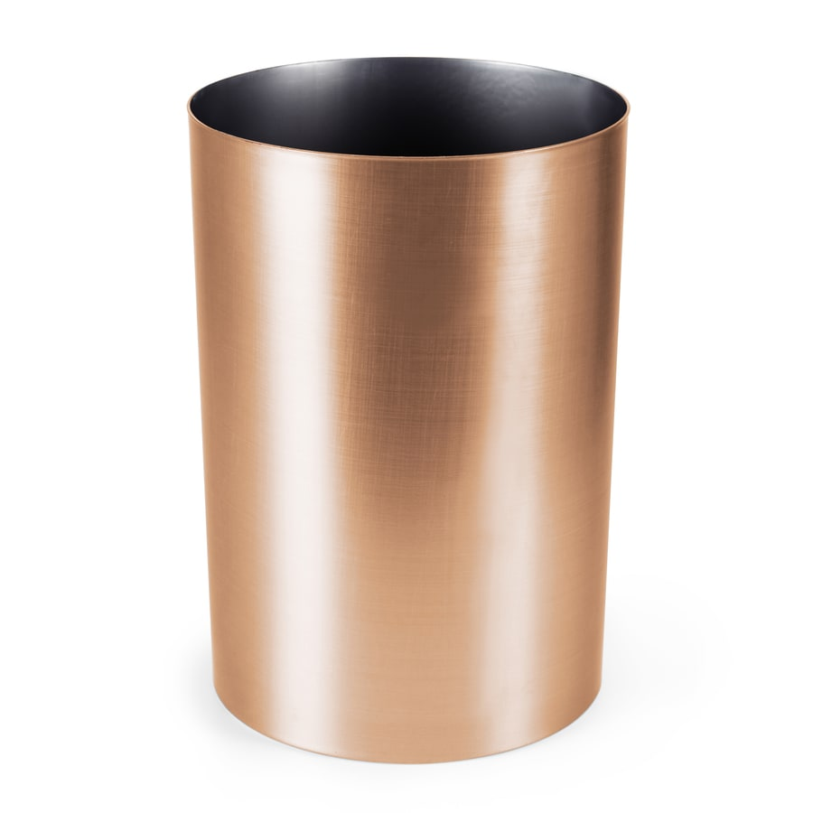 Copper Trash Can With Lid Umbra Can 18 Liter Copper Plastic Trash Can At Lowes