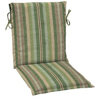 Shop allen + roth Stripe Green Stripe Standard Patio Chair ...