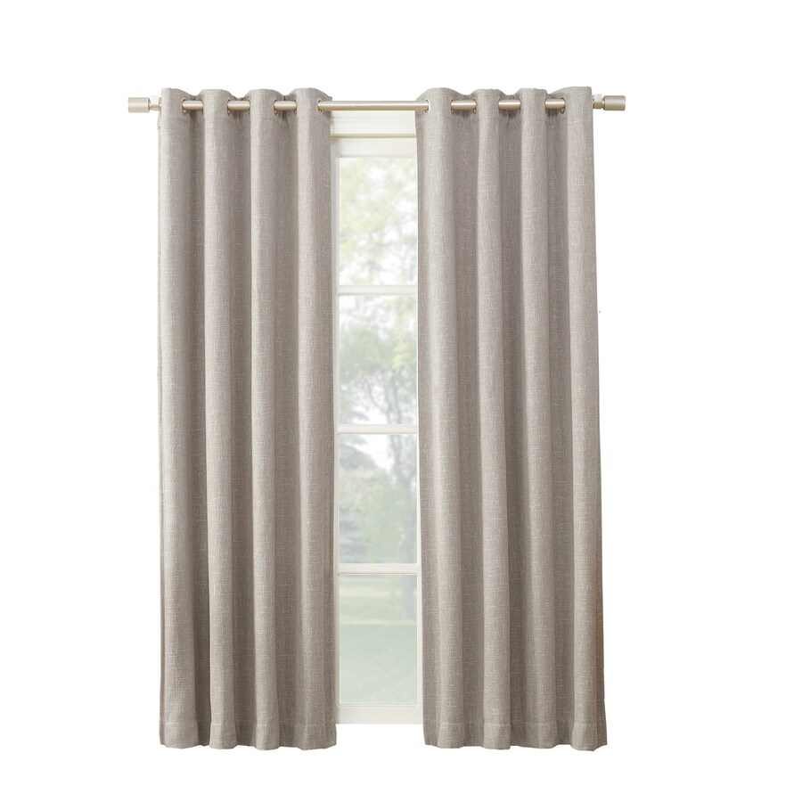 94 Inch Blackout Curtains Allen Roth Pierston 95 In Stone Polyester Grommet Blackout