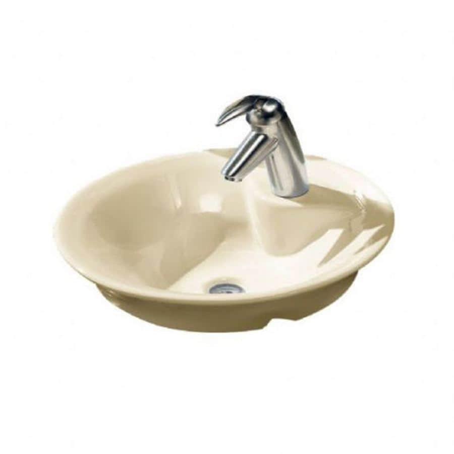 Shop American Standard Linen Vessel Round Bathroom Sink At