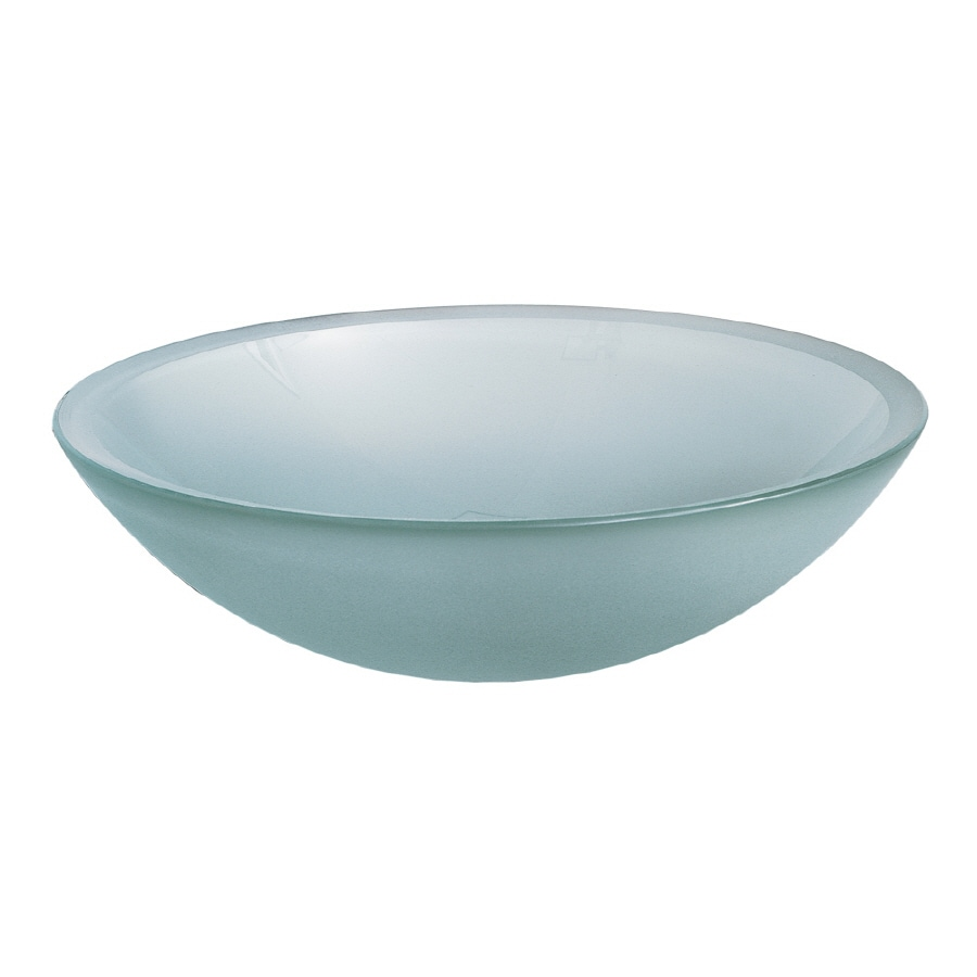 Shop American Standard Frosted Glass Vessel Round Bathroom