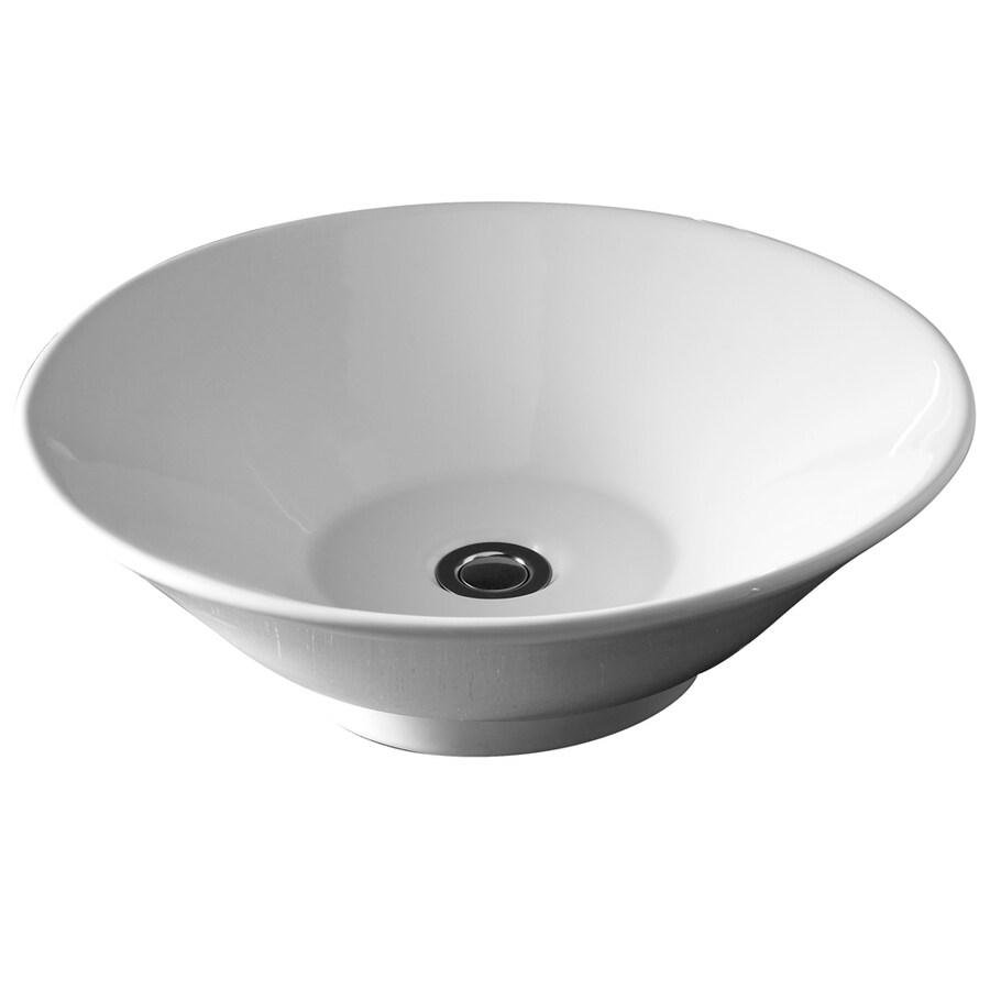 Shop American Standard White Vessel Round Bathroom Sink At
